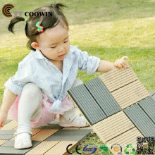 Wooden plastic base deck tile