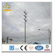 Pôle d'acier de distribution de ligne de transmission électrique