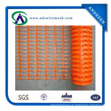Cerca de segurança de plástico laranja HDPE