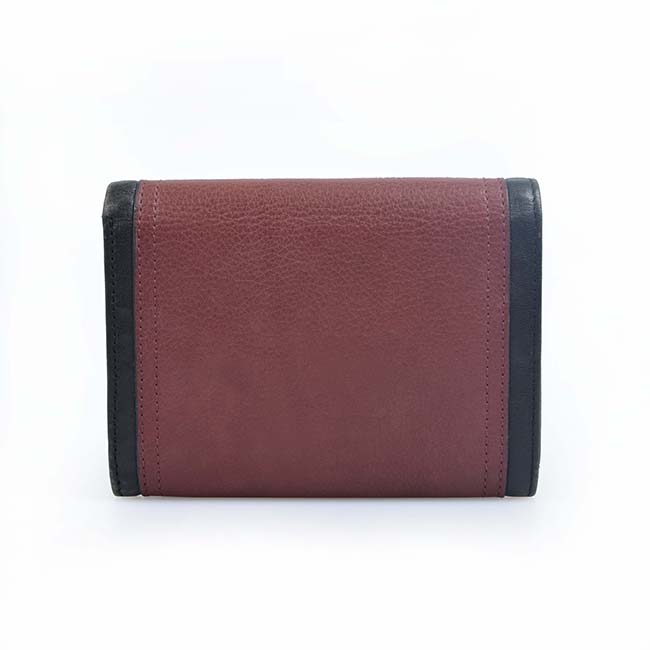 high quality blue genuine leather slim short women clutch wallet