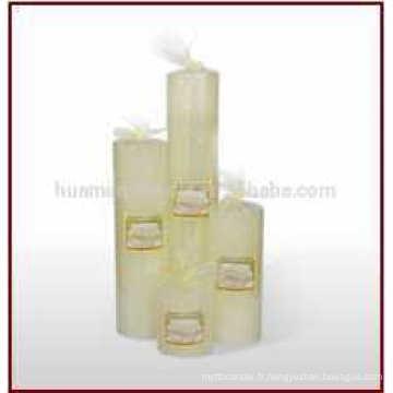 Vente en gros de bougies en pymne blanc / bougie de gros piliers pour décoration de maison