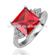 2014 Popular Fashion Diamond Ring , Charm Red Coral Stone Rings , Shiny Vogue Jewelry Wedding Rings