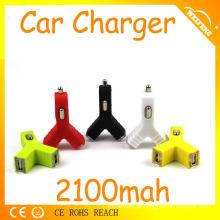 Eletrônica Auto 12v 2a saída 10 cores usb carregador de carro