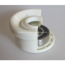 Carcasa de rodamiento de plástico del rodillo transportador de correa de alta calidad