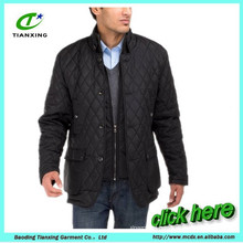 Men's Quilted Puffer Jacket with Double Knit Collar