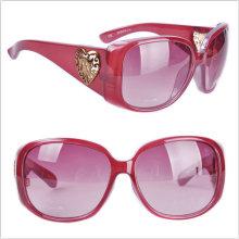 Gafas de sol de acetato de las mujeres / protección UV 400 / gafas de color rojo
