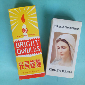 Yellow Box Dripless White Bright Candle