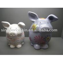 Caja cerámica del dinero del cerdo para BS09200