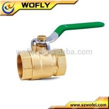 Vanne à bille en laiton pour eau, pétrole, gaz