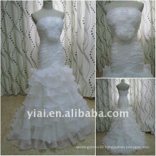 JJ2643 Drop Shipping Newest Layered Organza Bridal wedding dress