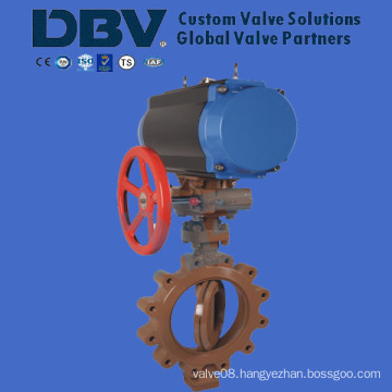 Pneumatic Lug Metal Seated Butterfly Valve