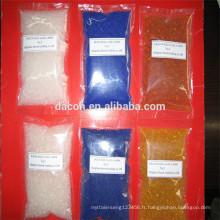 indiquant le gel de silice orange