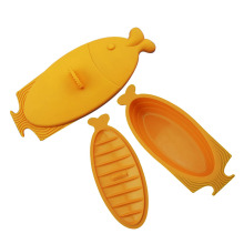 Fish Shaped Camping outdoor Silicone Lunchbox