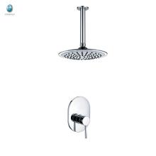 KI-13 économique mitigeur salle de douche accessoires pièces en céramique vanne cuivre solide construire dans la tête de douche de plafond