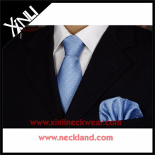 Жаккардовые мужчины шелковые галстуки и платки