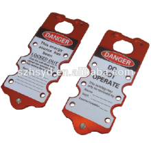 Approve CE more color for choice 18mm length*76mm width spark-proof aluminum hasp lockout tagout