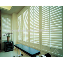 french 89mm blade wooden plantation shutters on windows from china