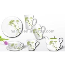 3 piezas de desayuno conjunto con decoración de flores frescas