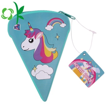 Lovely Design Mini Unicorn Silicone Coin Purse Bag