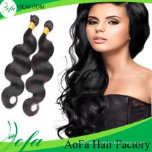 Extensão superior por atacado do cabelo do Virgin do cabelo humano da qualidade superior