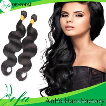 Extensión de calidad superior al por mayor del pelo de la Virgen de Remy del cabello humano
