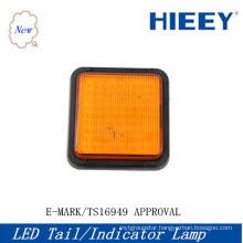 E-MARK Approval LED Square tail indicator lamp ,high quality 10-30V led tail light for big trucks