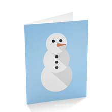 Custom Fancy Christmas Holiday Greeting Paper Card Printing