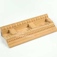Decorative furniture with corner wood moulding
