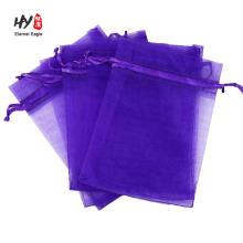 atacado embalagem de jóias cordão personalizado Organza Bag