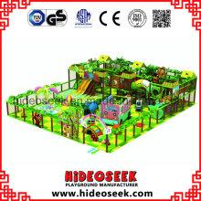 Playground macio de estilo floresta crianças com Slides
