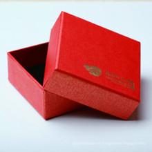 Caja de papel de regalo de la caja de embalaje de la joyería personalizada