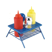 6pcs en plastique BBQ table de pique-nique condiment