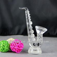Nuevo diseño - Saxofón de cristal para decration o regalo