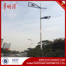 dual arm round conical lighting poles street lighting pole