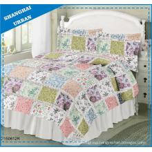 Floral Garden Printed Polyester Patchwork Quilt