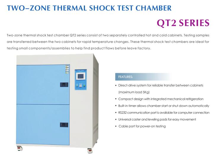 QT2 Temperature Shock Test Chamber