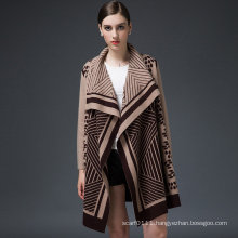 Women Luxury Mink Cashmere Winter Cardigan Sweater (YKY2053)