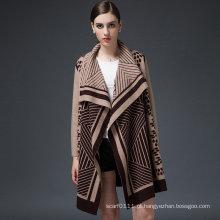 Mulheres de luxo mink cashmere camisola cardigan de inverno (yky2053)