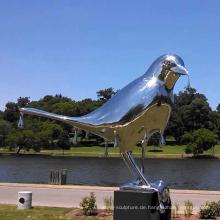 große Outdoor-Garten Dekoration Skulptur Metall Handwerk Vogel Skulptur