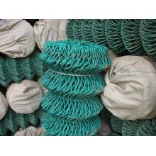 Cerca da ligação Chain do disconto Por atacado, Preço da cerca do elo de corrente revestido do PVC