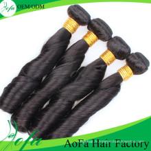 Extension de cheveux humains Remy de cheveux vierges de la meilleure qualité 100% non transformée