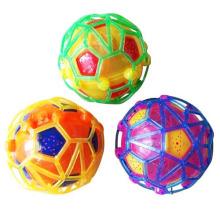 Б/О пластмассовая игрушка мяч прыгающий мяч с музыкой и светом (10179681)
