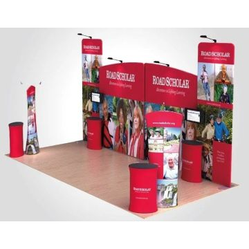 Kain Peregangan Ketegangan Backwall Display Banner