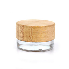 7g eye cream glass jar cosmetic glass jar with bamboo lid