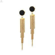 Moda Feminina Anti Alergia Jóias Tassel Fringe Earrings