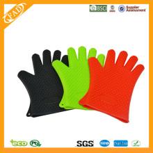 2014 Hot Selling FDA Standard résistant à la chaleur Food Grade Silicone Grilling BBQ Glove Set