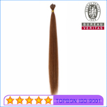 Prebonded Remy Virgin Hair Dark Brown Straight 18inch Big Flat Tip Human Virgin Remy Hair Extension