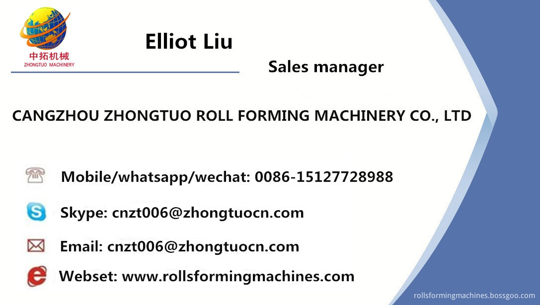 Ceiling system roll forming machine 7