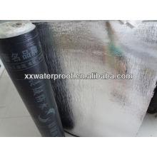 SBS modified bitumen waterproofing membrane with PE film