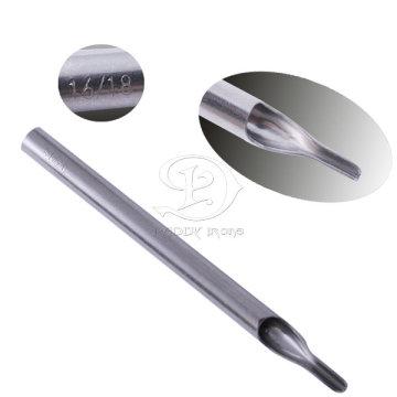Dica de profissional polimento 304 aço inoxidável longo tatuagem 16-18RT